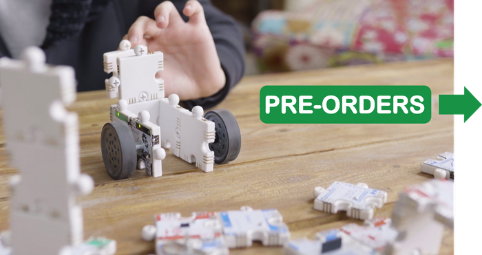 Use the puzzle language to build robots. No coding. No screens.