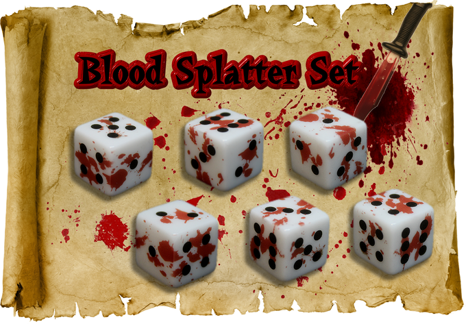 Contains Blood Splatter x6