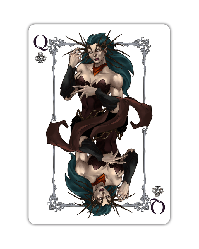 Orcs - Queen of Clubs