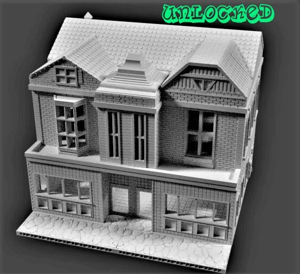 The Neon Nights Special is a large scale Victorian style city building, complete with interior stairs, a bay window, and extra signs to expand your city set up!