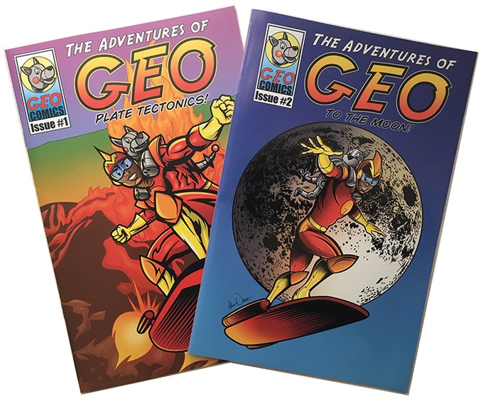 """The Adventures of Geo! Issues 1 and 2 can be yours with a $50 pledge for """"PUNK TACO Volume 1 & 2 w/GEO 1 & 2"""""""