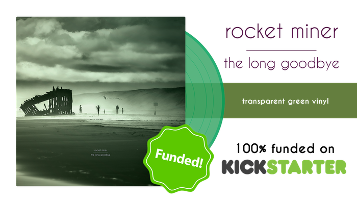We're Rocket Miner, a Chicago-based post-rock band born in 2011, and we would like to press the LP for our third album.