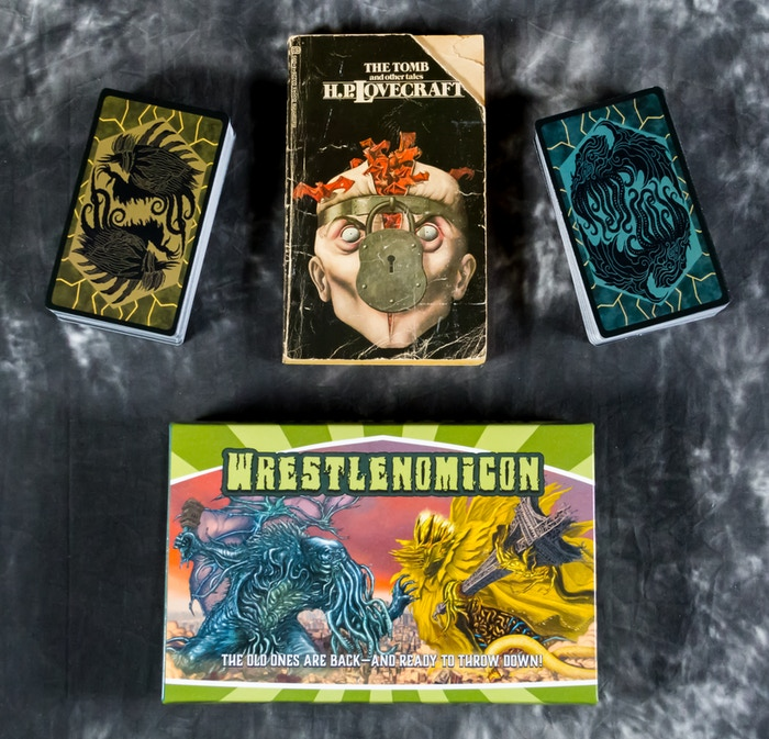 Big tarot-size cards! Ancient Mythos tome not included.