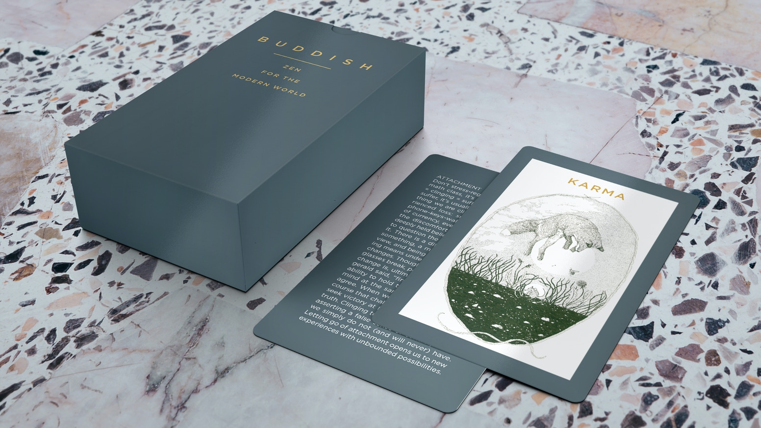 A mindfulness deck of cards inspired by Buddhist philosophy (it's Budd-ish)