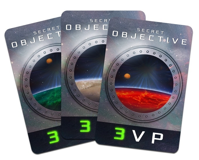 9 Secret Objective cards (to match the planets)