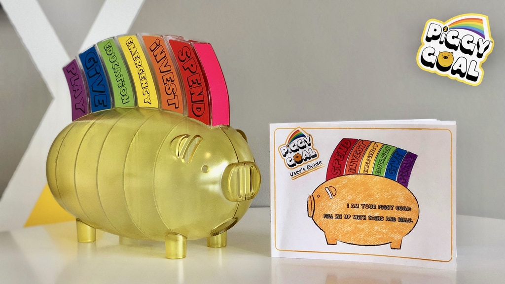 Piggy Goal: an educational piggy bank for children and adult