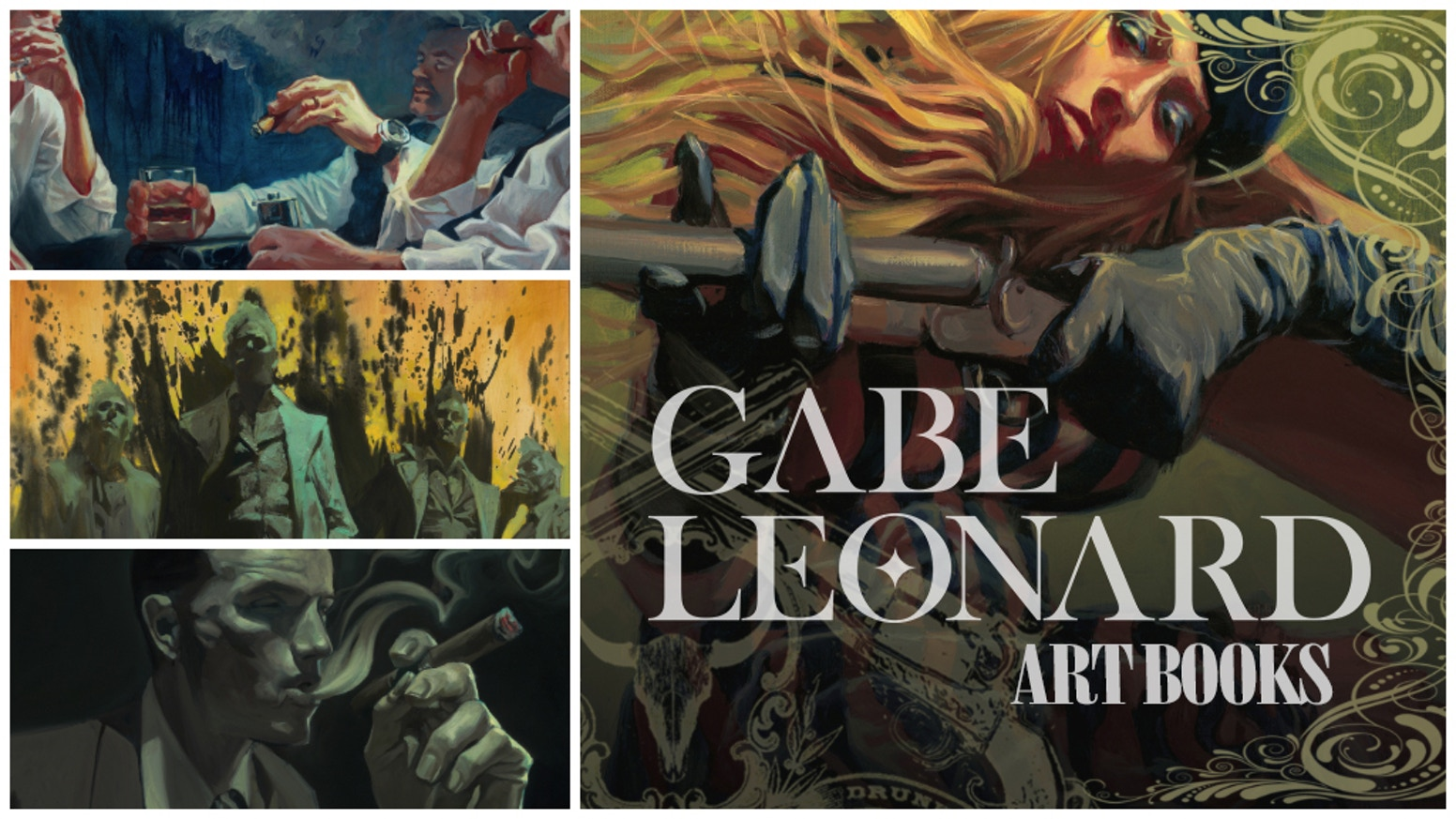 Collection of Gabe Leonard Oil Paintings presented in a high-quality art book series, chronicling over ten years of cinematic artistry.