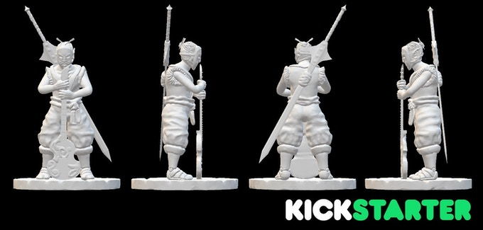 This is the design for the bard $4500 stretch goal. This model along with a few other locked stretch goals will be in resin instead of PLA if we reach that point.