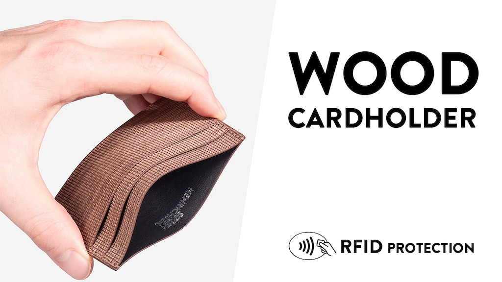 WOODEN CARDHOLDER - RFID Data protection project video thumbnail