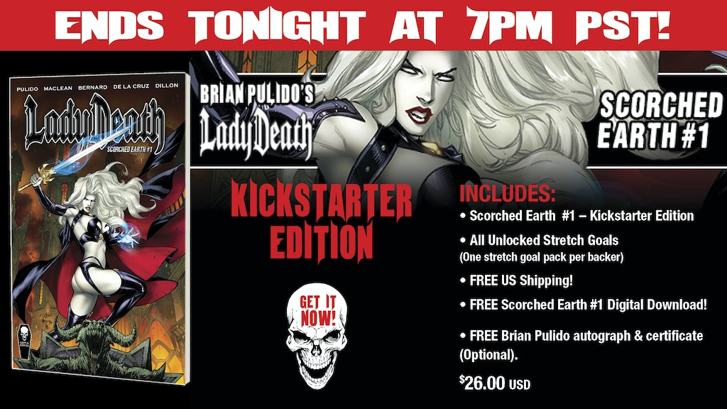 BRIAN PULIDO'S NEWEST: LADY DEATH: SCORCHED EARTH #1! SWORN! project video thumbnail
