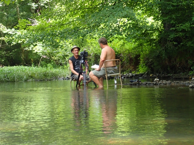 Artist Butch Anthony talks about his life while we sit in a tributary to the Tennessee River