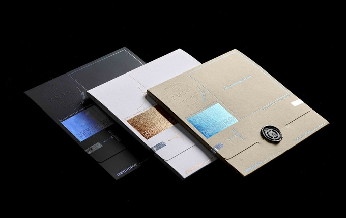 Three unique, custom designed envelopes, filled with absolutely NOTHING.