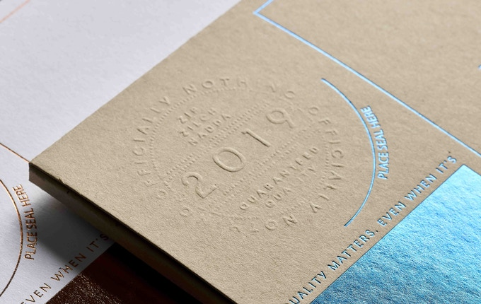 Ensure the authenticity of NOTHING with this anti-counterfeit embossed seal of quality