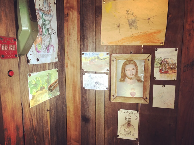 Shantyboat Dotty's Tiny Art Gallery in the Head