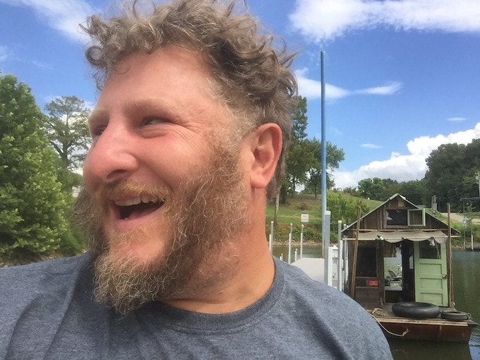 Captain of the Shantyboat Dotty and Secret History artist Wes Modes