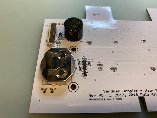 The battery backup portion of the Doppler board