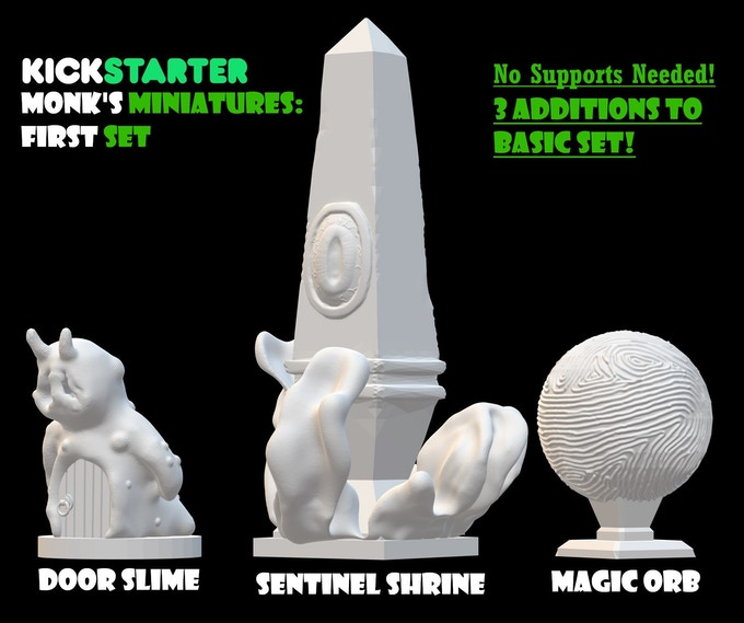 I was inspired so I designed these to add to the basic set. They all require no supports to print and come out beautifully on an Ender 3. These are all 25.4 mm (1 inch) diameter/wide bases.