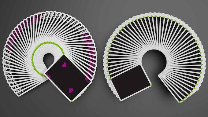 Standard Fan and Blank Fan shown side by side