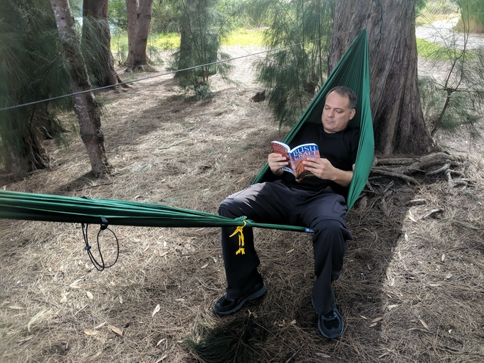 There are many ways to sit in the GO! Hammock 2.0
