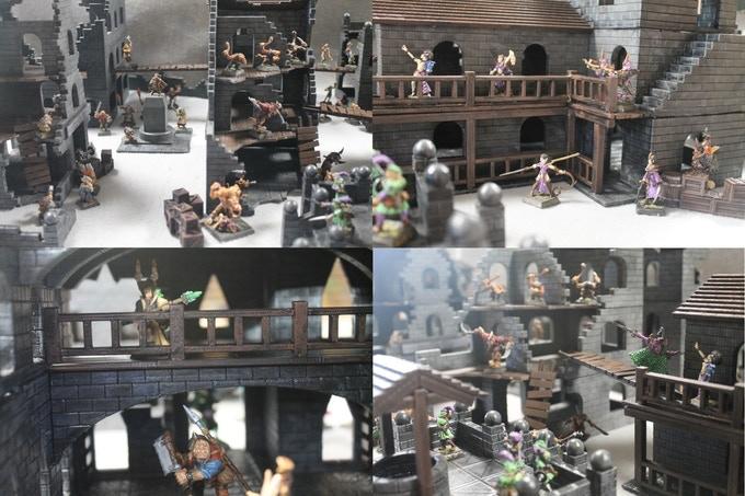 Custom terrain for Warhammer, 40K, Mordheim, Dungeons & Dragons, more ...