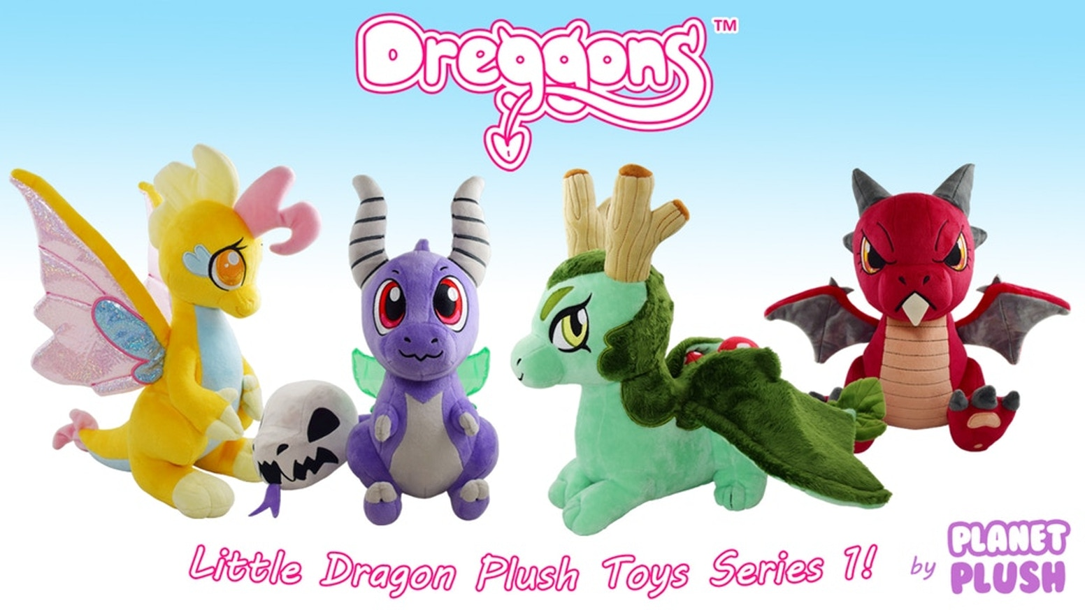 Dreggons are little dragons from a magical world called Draconia! Come meet them in this designer plush series!