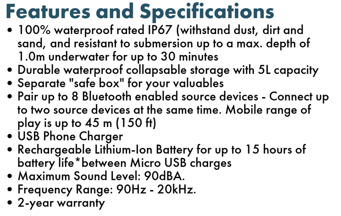 Some specifications are subject to changes (for the best!) closer towards production