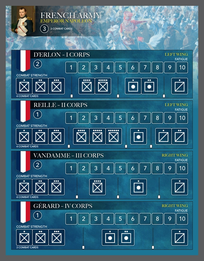 Prototype French Army Corps Boards