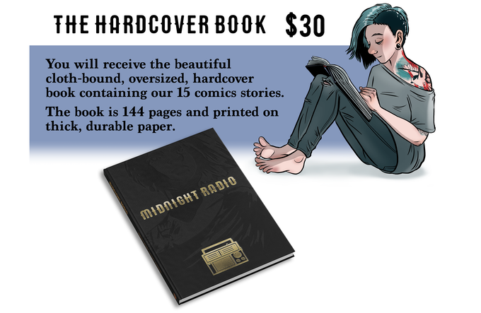 MIDNIGHT RADIO: Hardcover Story Collection by onthemark — Kickstarter