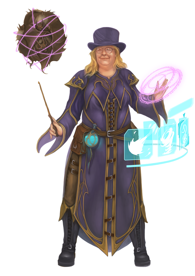 Playtest character Aragil (Base Class: Wizard) selects the perfect spell for those pesky bats.