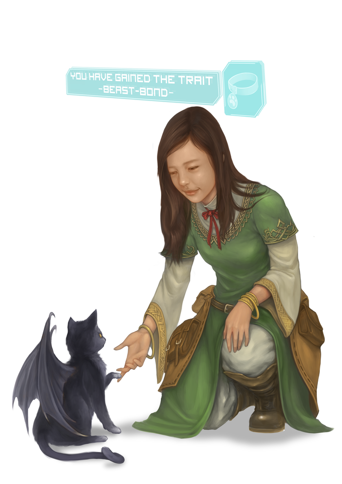 Character Gail, the brilliant prodigy, tames a draco-cat (and names her Athena) as her companion!