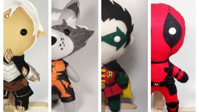 Check out this kickstarter for Geeky Plushies! by Caitlin Grace. You can also search Geeky Plushies! on facebook to find the store page. Click the photo to go directly of copy the link here: http://kck.st/2uKVSK7