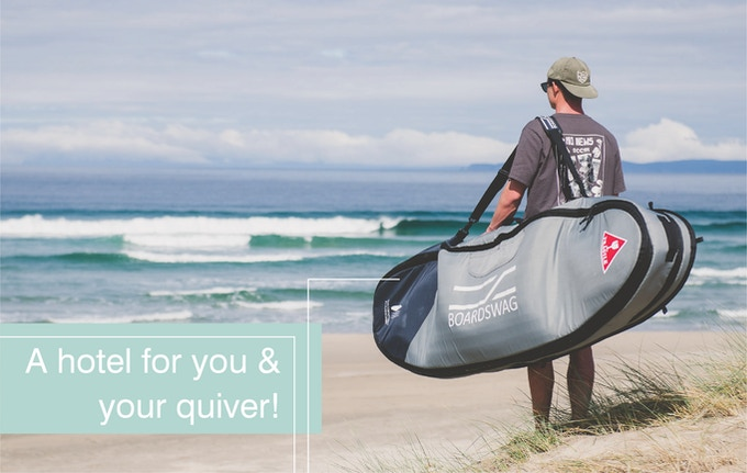 3 boards and your accomodation, all in a bag over your shoulder!