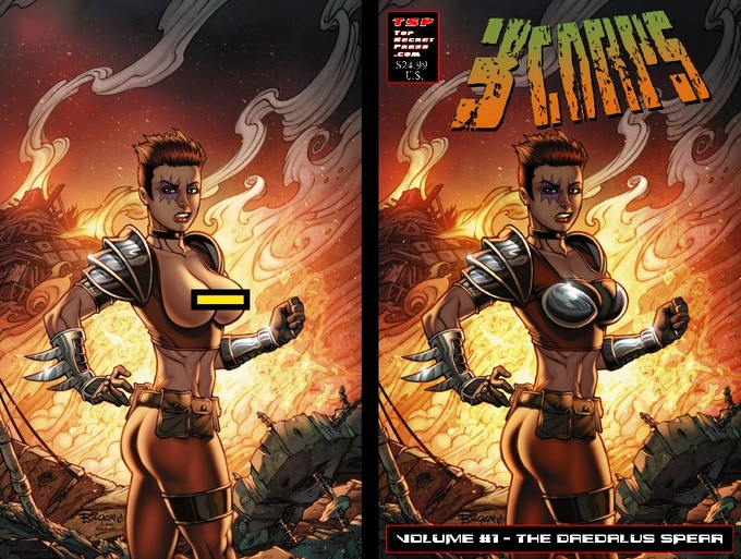 3CORPS Vol. 1 TPB Cover B - 156 pages of Full Color gloss pages!  Cover by Bill McKay (Pencils) and Ivan Nunes (Colors)