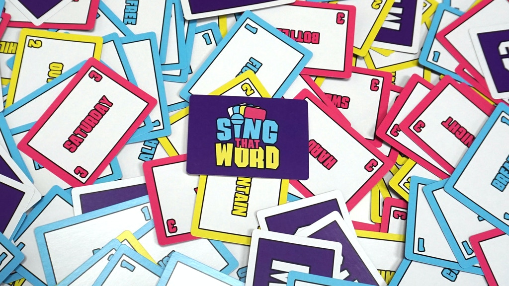 SING THAT WORD- A new card game for music lovers! project video thumbnail