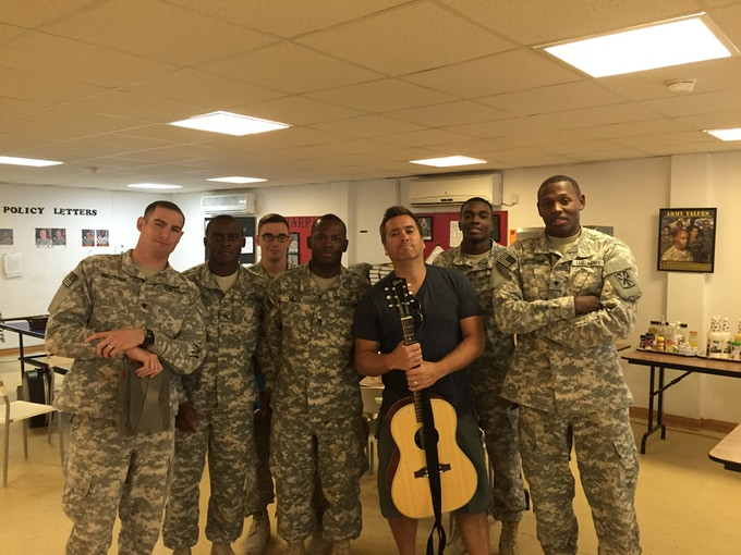 USA troops in Bahrain.  So honored to perform for them.