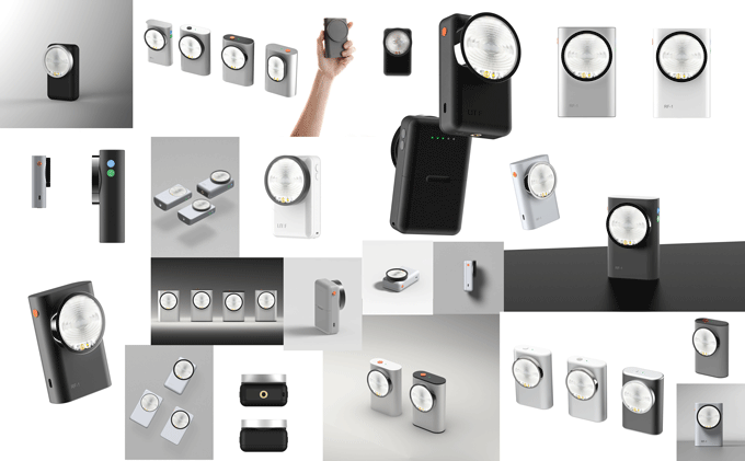 Various product design iterations.