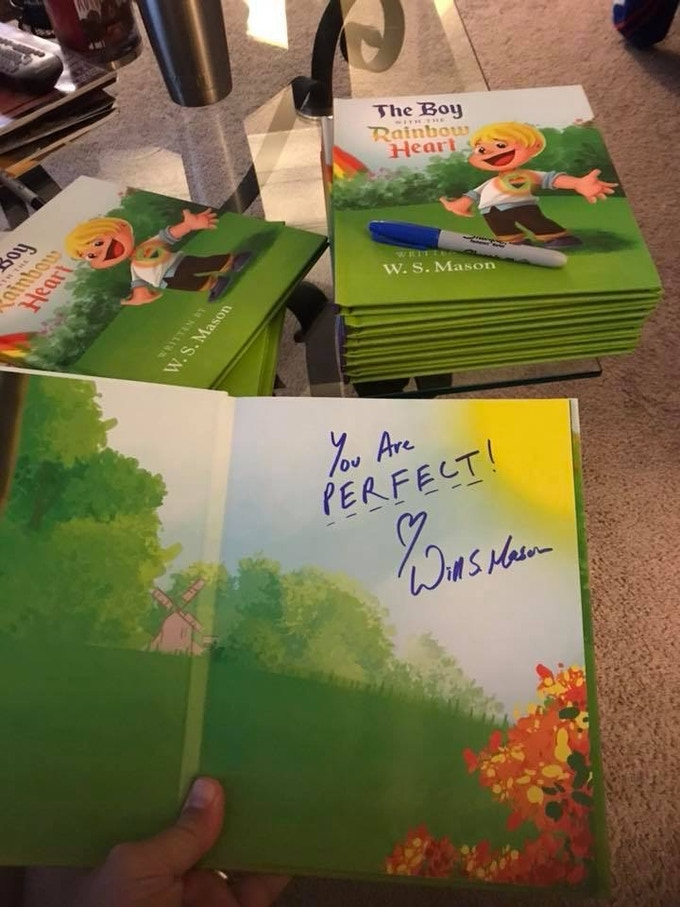 these were the books I signed for Jamel's school - we donate 19 hardcover books with kind messages for the students.