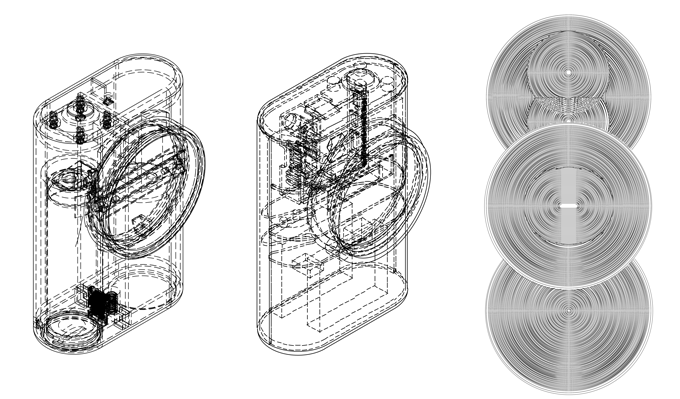 Various housing assembly and fresnel lens design versions.