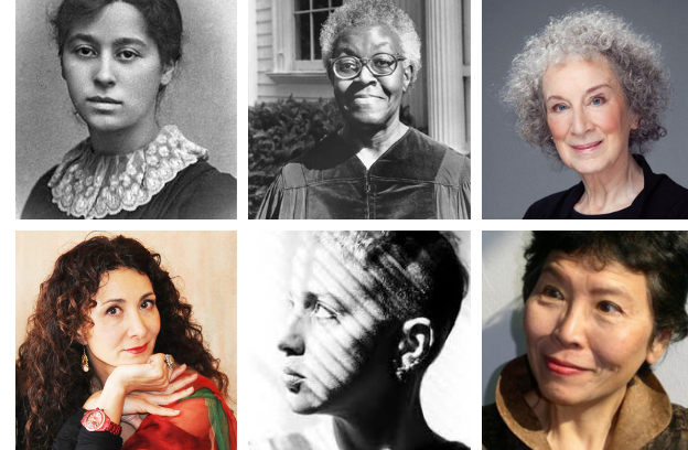 CHOICE WORDS contributors Amy Levy, Gwendolyn Brooks, Margaret Atwood, Sholeh Wolpe, Kathy Acker, and Shirley Geok-Lin Lim