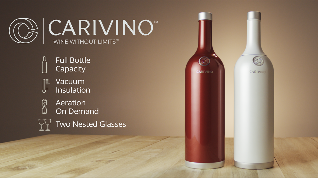 CARIVINO: All-In-One Outdoor Wine Bottle With Glasses Inside