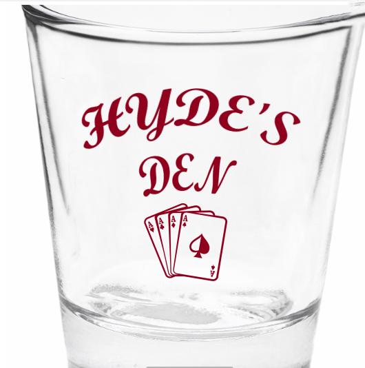 Hyde's Den Shotglass