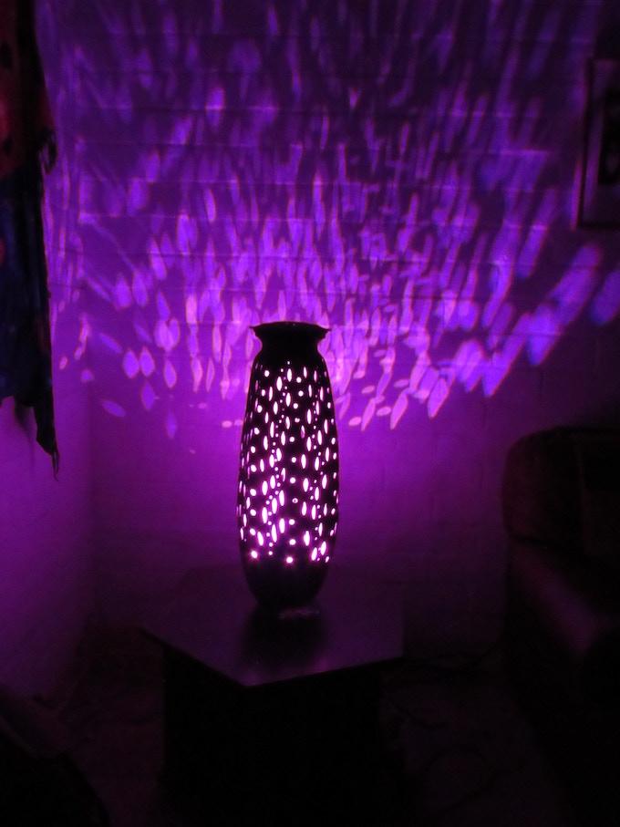 Lamp when lit (sample)