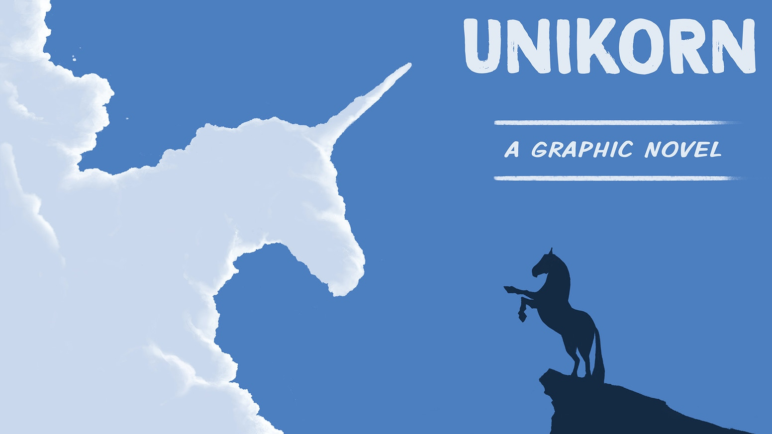 A graphic novel about a little girl who inherits an old horse she believes is a unicorn with a broken horn.