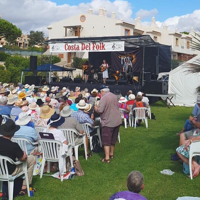 Performing at Costa Del Folk 2018