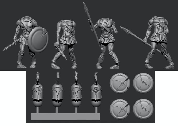 Greek Pack 1 - Shield shown attached to body for illustration purposes only!