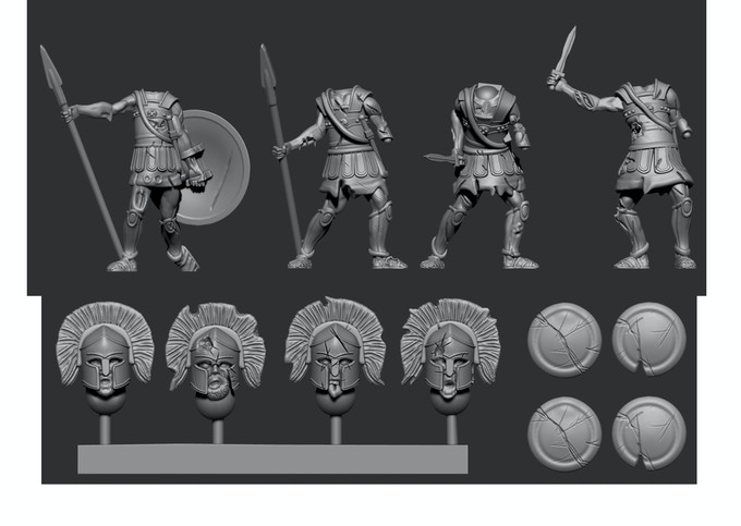 Greek Pack 2 - Shield shown attached to body for            illustration purposes only!