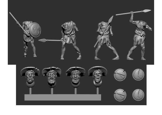 Greek Pack 4 - Shield shown attached to body for illustration purposes only!