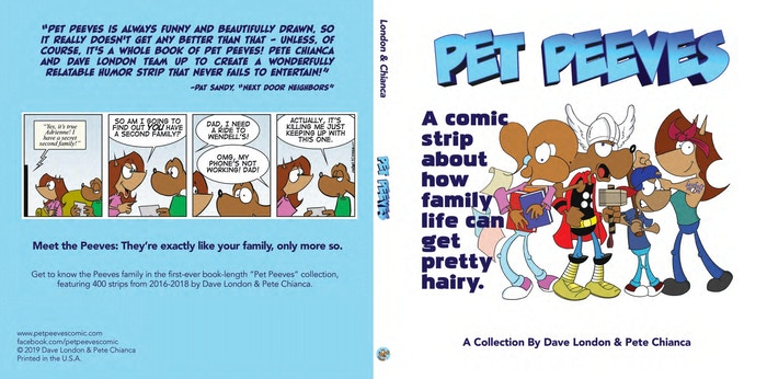 """""""Pet Peeves"""" collects the first three years of the popular comic strips by Dave London & Pete Chianca."""