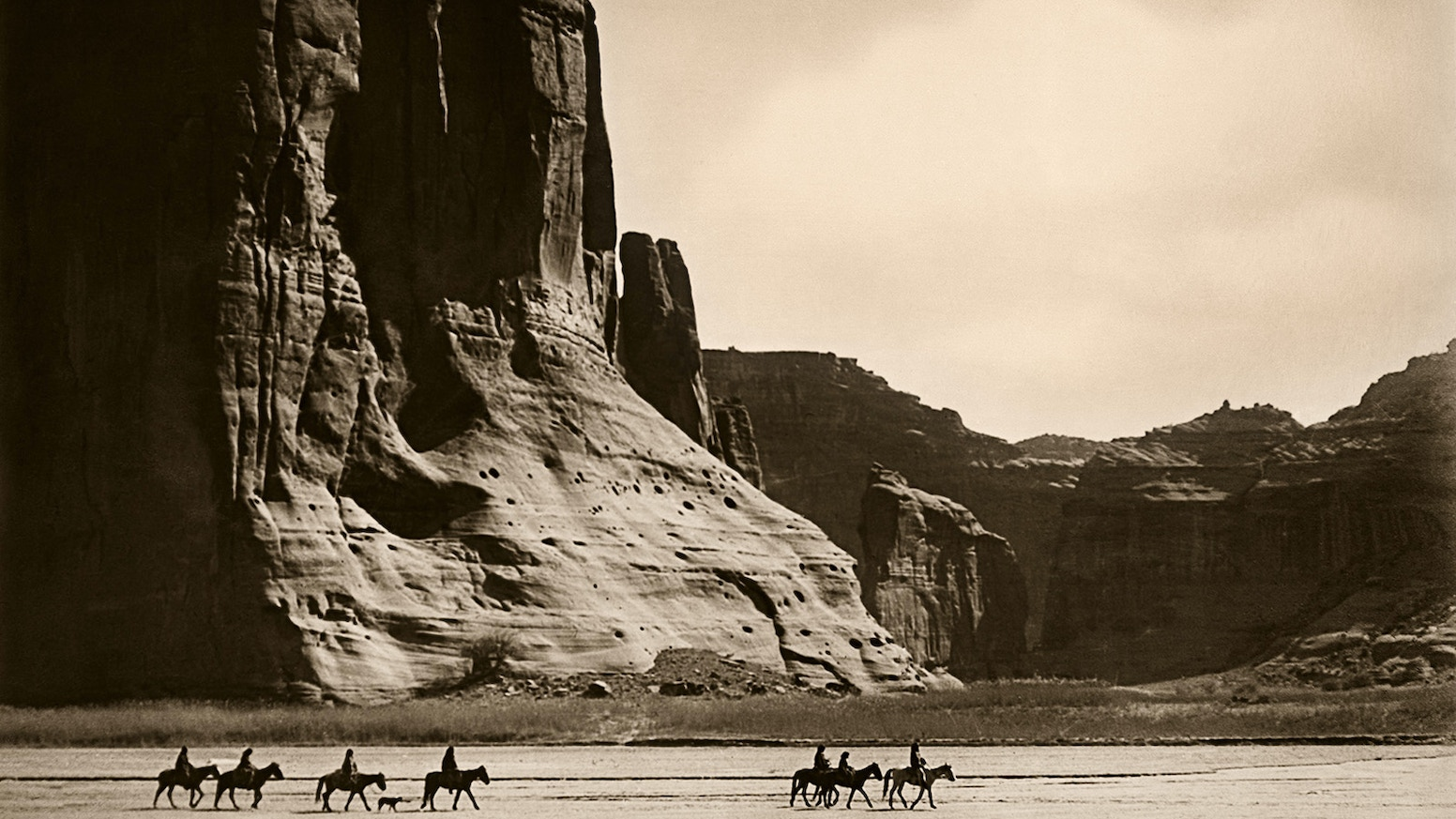 Photogravure prints made from Edward Curtis' own glass plate negatives, passed down to his great-grandson.