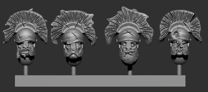 Greek Heads Pack 3